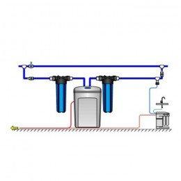 Умягчитель Аквафор WaterBoss 400 + Гросс 2 шт. + Морион + Соль 2 мешка
